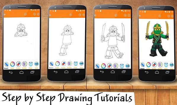 How To Draw Lego Ninja Go Characters screenshot 2