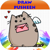 android 用の how to draw cute pusheen cat step by step apk を