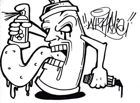 Drawing Graffiti for Beginners poster