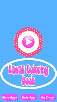 Kawaii Coloring Book-Coloring Pages poster