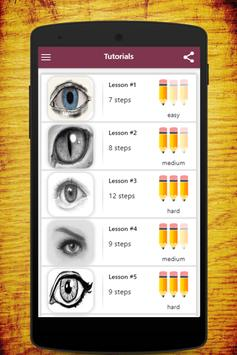 How To Draw Eyes apk screenshot