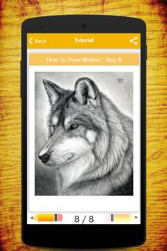How To Draw Wolves apk screenshot