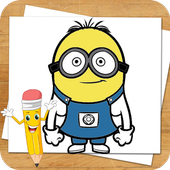 Drawing Lessons Minion Despicable Me icon