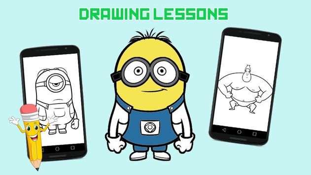 Drawing Lessons Minion Despicable Me poster