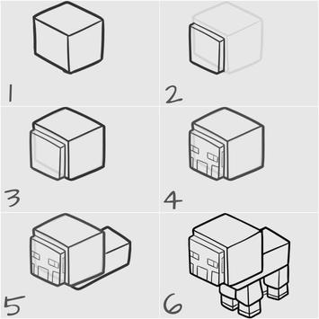 Drawing Minecraft Characters Tutorial screenshot 4
