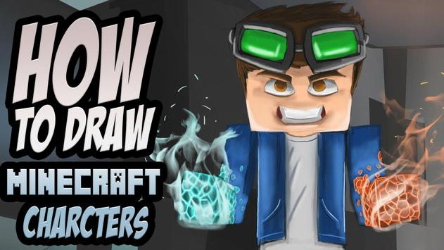 Drawing Minecraft Characters Tutorial poster