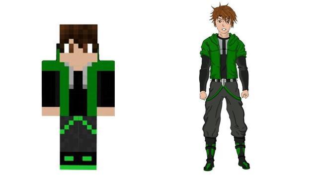 Drawing Minecraft Characters Tutorial screenshot 3
