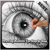 realistic eye drawing tutorial icon