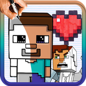 How to draw Minecraft Characters icon