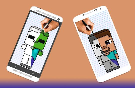 How to draw Minecraft Characters screenshot 3