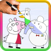 How To Draw peppa pig icon