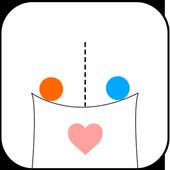 physics draw love line icon