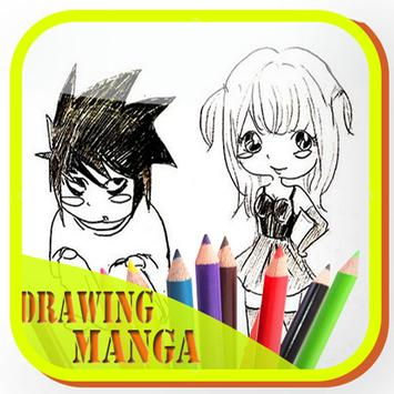learn to draw manga characters poster