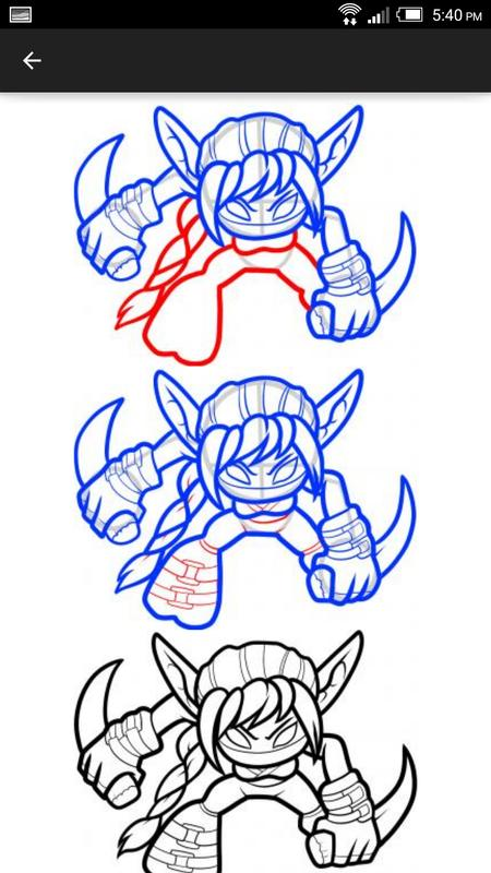 how to draw skylanders step by step