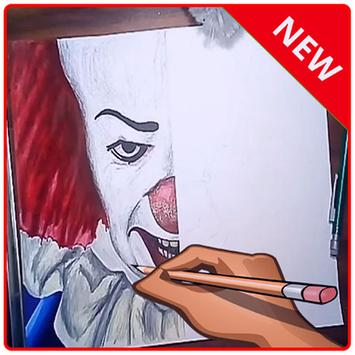 draw pennywise poster