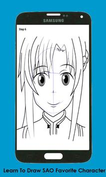 How To Draw Sword Art Online(SAO) Characters apk screenshot