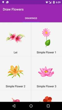 Draw Flowers Step by Step screenshot 1