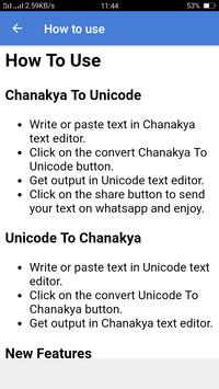 Chanakya to unicode converter: (Offline) apk screenshot