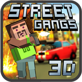 Street gangs. Multiplayer 3D icon