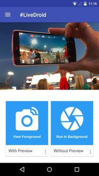 #LiveDroid: Wireless WebCam screenshot 1