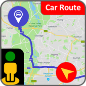 GPS Navigation Travel, Map-Satellite Route 2018 icon