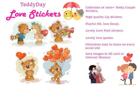 ♥♥ Teddy Love Stickers & Emoticons ♥♥ screenshot 8
