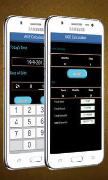 Aged Care - Age Calculator Birthday Wishes apk screenshot