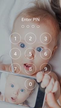 Cute Baby Lock Screen poster
