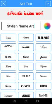 Stylish Name Art - Name on Pics poster