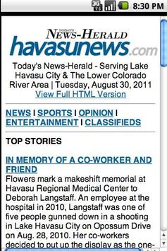 Lake Havasu News apk screenshot