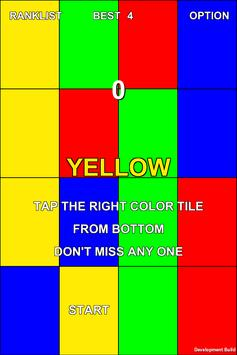 Tap The Right Color Tile poster