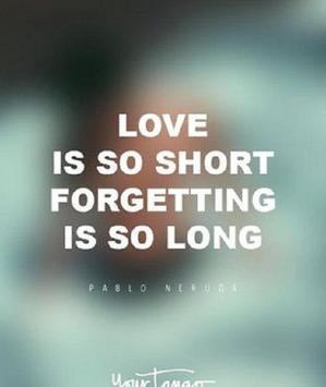 Quotes love (caption) poster