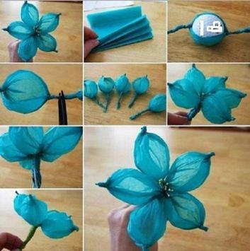 flower craft idea poster