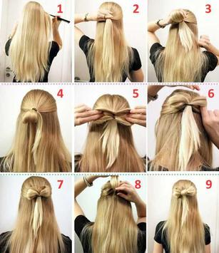 hairstyles tutorial poster