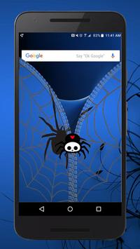 Blue Spider Lock ~ Zipper Lock Screen apk screenshot