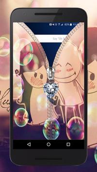 Cute Love Zipper ~ Best Zipper Screen Lock poster