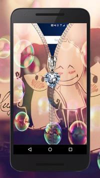 Cute Love Zipper ~ Best Zipper Screen Lock apk screenshot