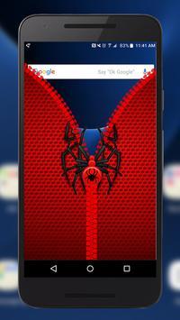 Spider Lock Screen ~ Best Zipper Lock Screen apk screenshot