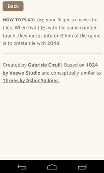 Tile 2048 apk screenshot