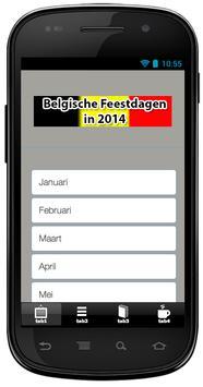 Belgische Feestdagen in 2014 poster