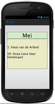 Belgische Feestdagen in 2014 screenshot 1