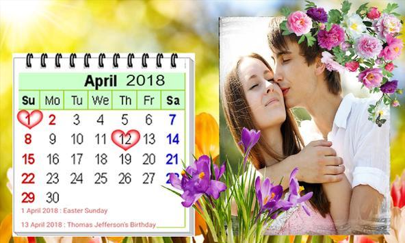 2019 Calendar Photo Frames-Wishes,Greetings screenshot 1