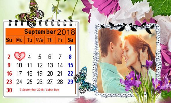 2019 Calendar Photo Frames-Wishes,Greetings screenshot 4