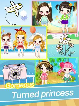 Cute girls seaside travel - dressup games for kids screenshot 4