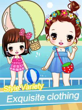 Cute girls seaside travel - dressup games for kids screenshot 5