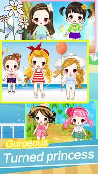 Cute girls seaside travel - dressup games for kids screenshot 1