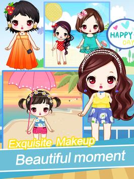 Cute girls seaside travel - dressup games for kids screenshot 3