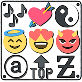 Symbols, emojis, letters, nicknames, text arts icon