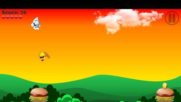 Flappy Droplet Water vs Fire plateformer games screenshot 2
