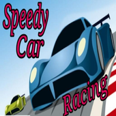 Speed car racing icon